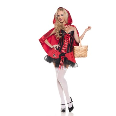 Sexy Corset Red Riding Hood Halloween Costume