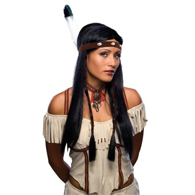 Sexy Indian Pocahontas Wig for Halloween Costume
