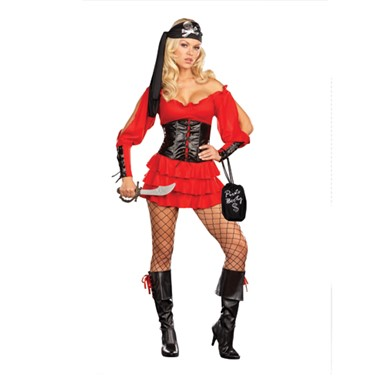 Sexy Pirate Wench Costume - Womens
