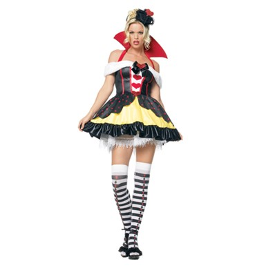 Sexy Queen of Hearts Off the Shoulder Dres Costume