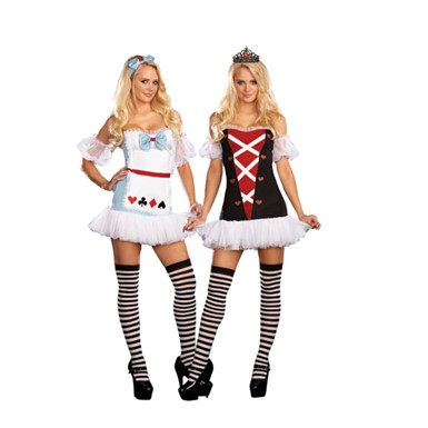 Sexy Tea for Two Reversible Adult Costume