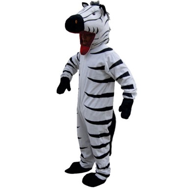 Striped Zebra Mascot Costume