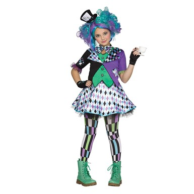 Teen Mad Hatter Purple Costume