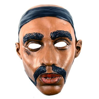 Thug Life 2 Pac Rapper Mask for Adult Halloween Costume