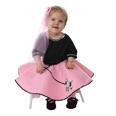 Toddler 50's Poodle Skirt Set