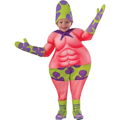 Toddler Patrick Star Mr. Superawesomeness Halloween Costume