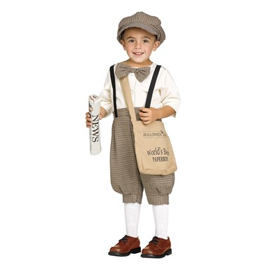 Toddler Retro Newsboy Costume