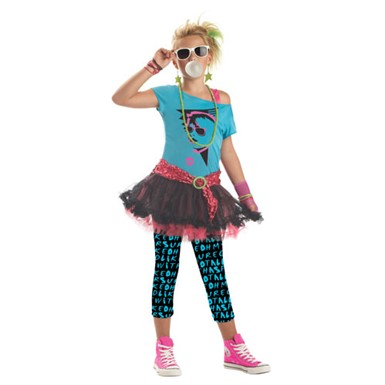 Tween 80's Valley Girl Costume