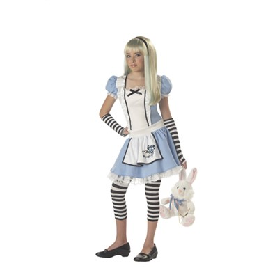 Tween Alice in Wonderland Costume - Blue & White