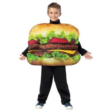 Tween Cheeseburger Food Snack Halloween Costume