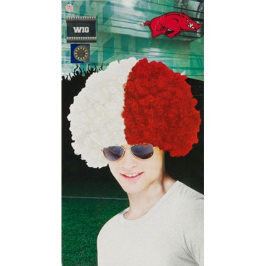 University of Arkansas Wig Halloween Costume Accessory