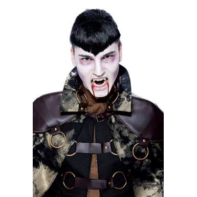 Vampire Wig - Mens Widow's Peak Black