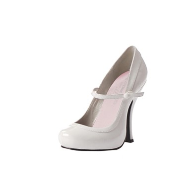 White Mary Jane Shoes - Womens