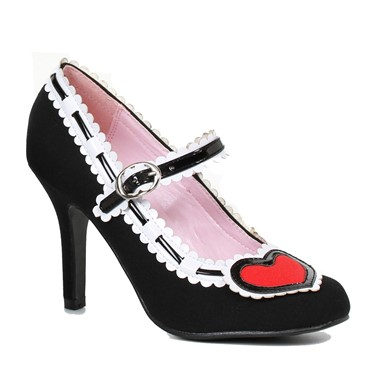 Womens Black Alise Pump Heart Heels