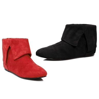 Womens Black & Red Quinn Booties