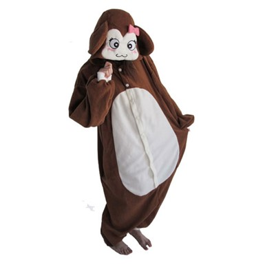 Womens Brown Monkey Costume