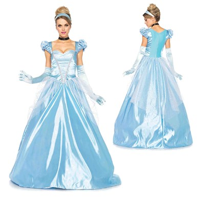 Womens Cinderella Classic Ball Gown Disney Costume