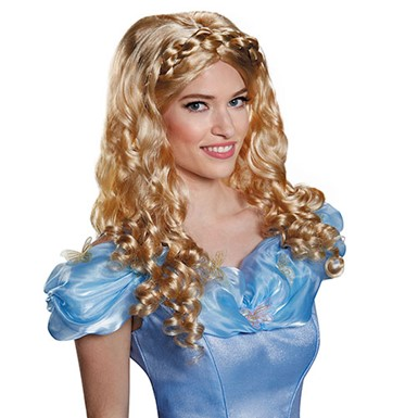 Womens Cinderella Movie Costume Wig