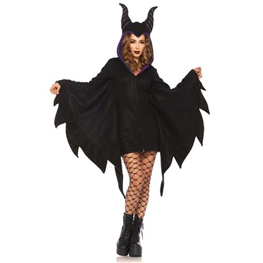 Womens Cozy Villain Maleficent Disney Costume