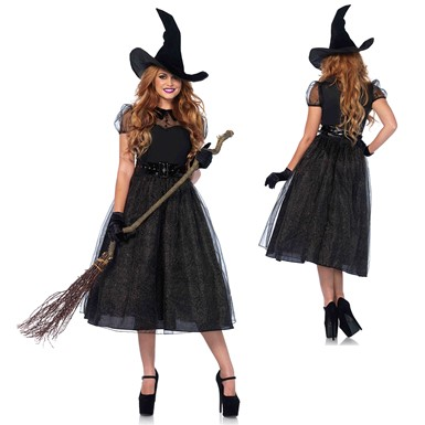 Womens Darling Spellcaster Witch Costume