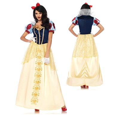 Womens Deluxe Snow White Ball Gown