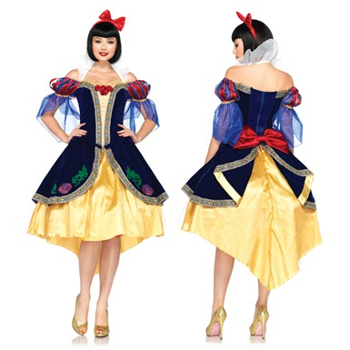 Womens Deluxe Snow White Costume