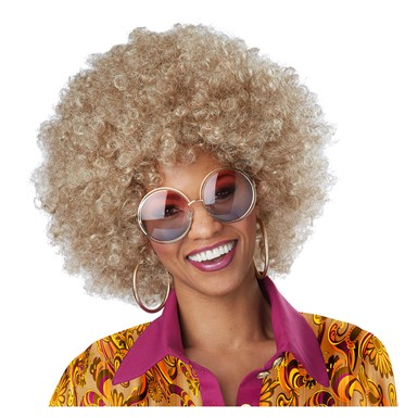 Womens Dirty Blonde Foxy Lady Afro Wig