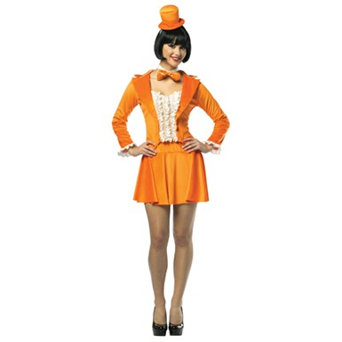 Womens Dumb And Dumber Lloyd Tuxedo Dress - Orange