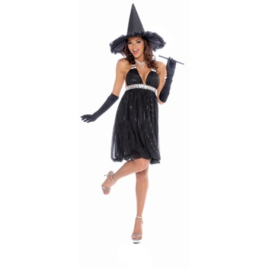 Womens Glamour Witch Halloween Costume