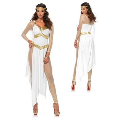 Womens Greek Golden Goddess Halloween Costume