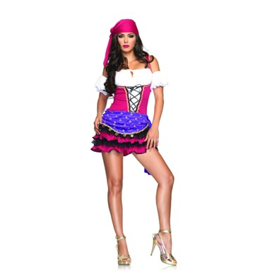 Womens Gypsy Costume - Crystal Ball Gypsi