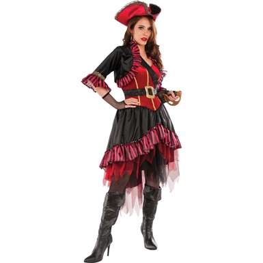 Womens Lady Buccaneer Pirate Costume size Standard 10-14