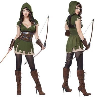 Womens Lady Robin Hood Costume - Robin Hood Costumes