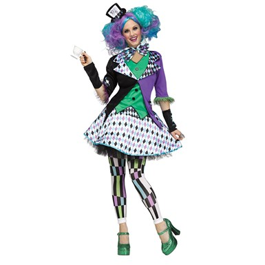 Womens Mad Hatter Purple Halloween Costume