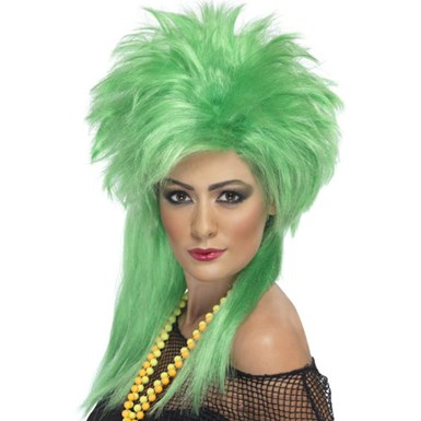 Womens Punk Rock Wig - Green