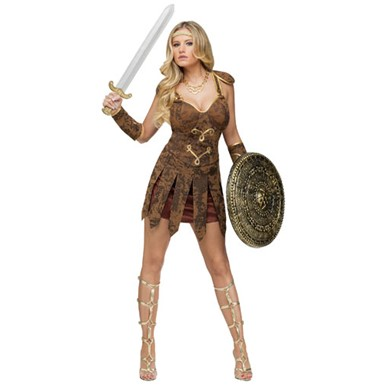 Womens Sexy Gladiator Roman Warrior Halloween Costume