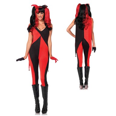 Womens Sexy Jingle Jester Clown Costume