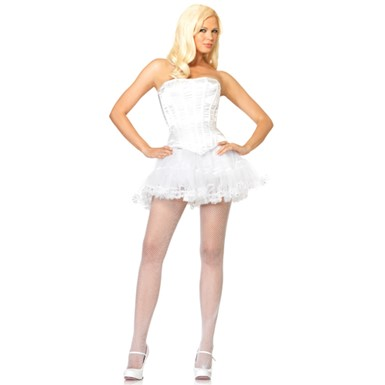 Womens Sexy White Corset Halloween Costume Accessory