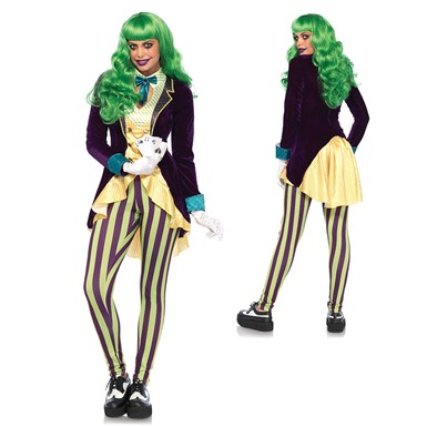 Womens Sexy Wicked Trickster Joker Costume