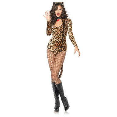 Womens Sexy Wilcat Leopard Kitty Halloween Costume