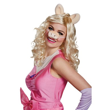Womens The Muppets Miss Piggy Costume Wig