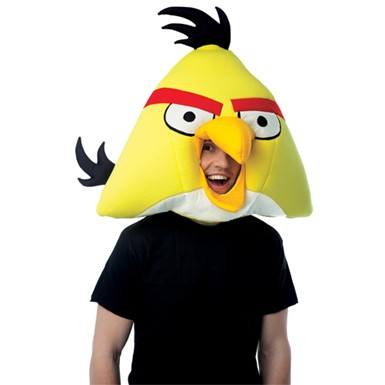 Yellow Angry Birds Headpiece Mask for Halloween Costume