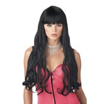 Adult Serpentine Black Wig for Halloween Costume