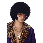 Afro with Sideburn Chops Wig for Halloween Costume