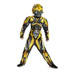 Boys Classic Bumblebee Muscle Transformers Costume