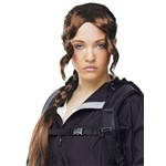 Brown District Girl Costume Wig