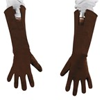 Kids Captain America Retro Brown Gloves For Costume