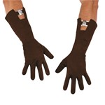 Mens Captain America Retro Brown Gloves For Costume