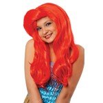 Mermaid Red Child Wig for Kids Halloween Costume