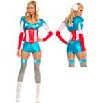 Womens Sexy American Hero Halloween Costume